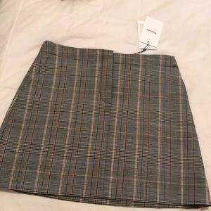 NWT Theory plaid skirt